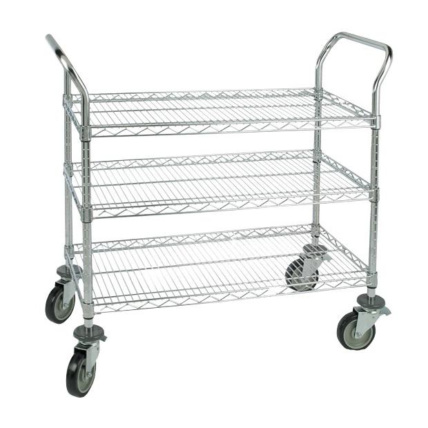 3 Shelf Wire Utility Carts | Doug Brown & Associates - DB Medical